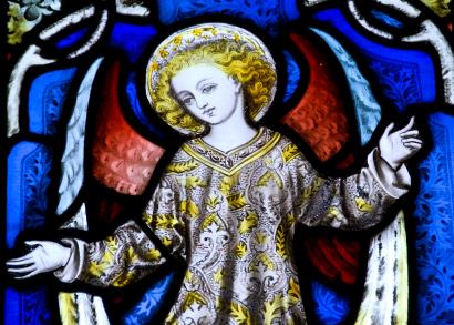 Stained glass angel church window - tangledpasta.net