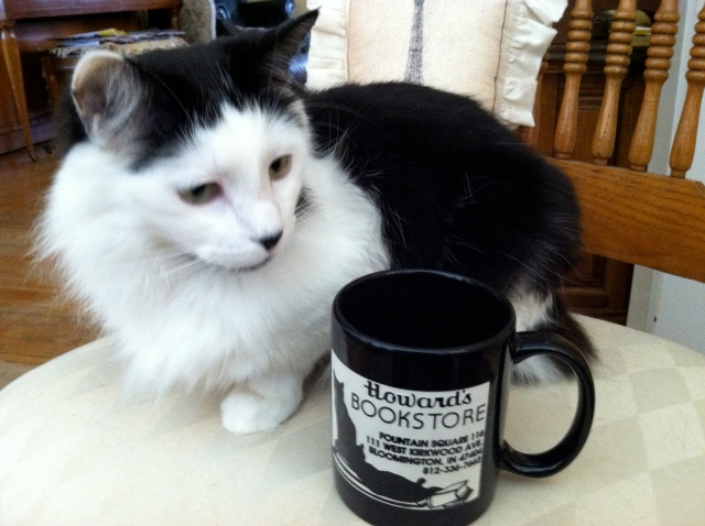 Coco Chanel with our Howard's End mug - tangledpasta.net