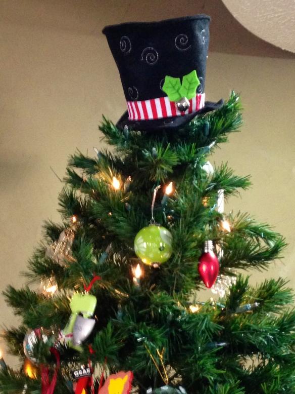 The topper of Lauren and Justin's Christmas tree - tangledpasta.net