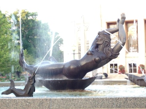 When I am feeling better, I think I'll return to yoga - Showalter Fountain, IU Bloomington - tangledpasta.net