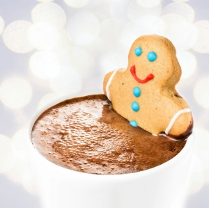 Even though I was unable to eat and drink these treats for a few days, a gingerbread cookie and a cup of cocoa made me feel better.