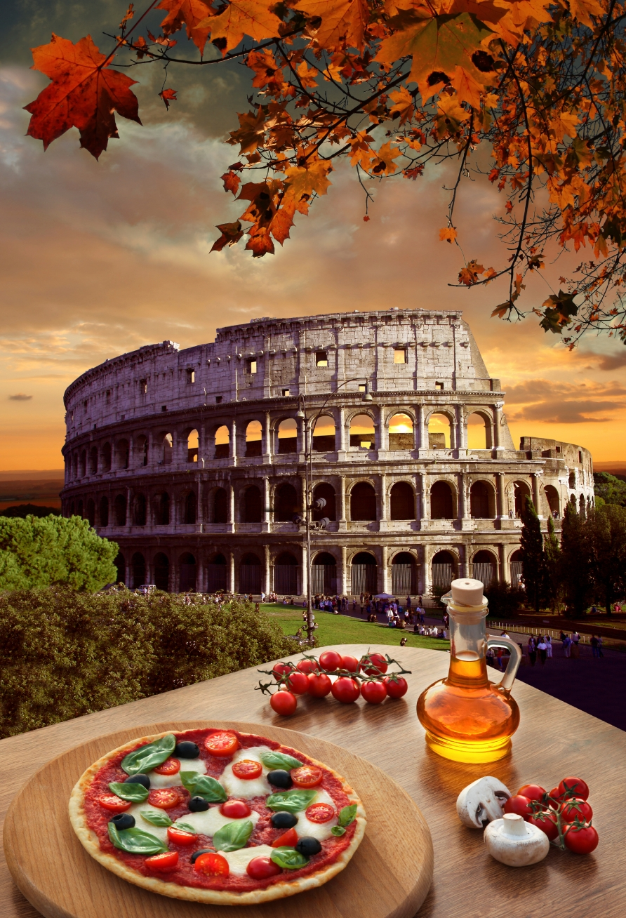 The pizza in Rome is tasty too, like pizza all over Italy and in the U.S. where there are large populations of Italians!-tangledpasta.net