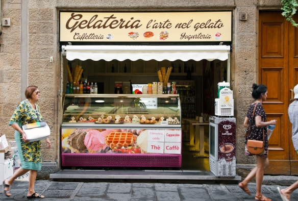 A gelateria in Florence, Italy  www.tangledpasta.net