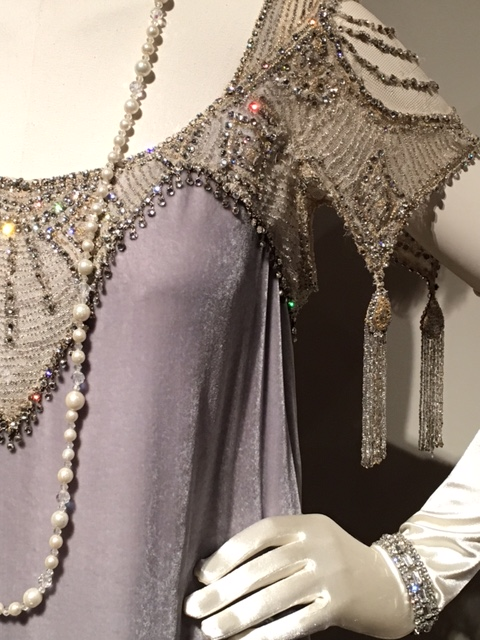 Detailed beadwork on Lady Cora Crawley's Gown-tangeldpasta.net