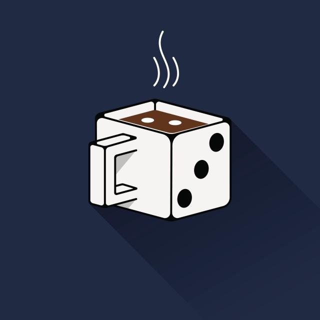 This dice mug reminds me of Kurt Vonnegut's artwork. - tangledpasta.net
