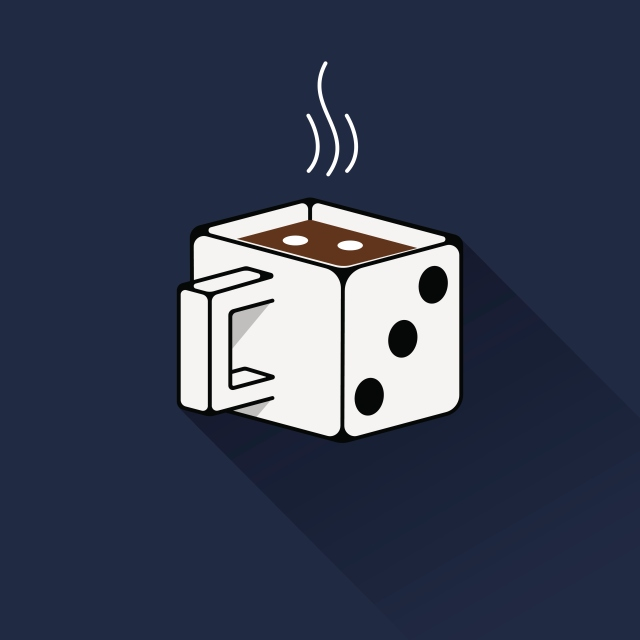 This dice mug reminds me of Kurt Vonnegut's artwork. - tangledpasta.net
